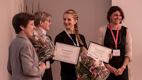 Kristin Schirmer (second from left) and Melanie Fischer (second from right). (Photo: Swiss 3R Competence Centre)