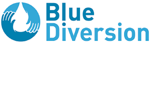Blue Diversion Toilet