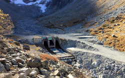 A water intake in the Borge d'Arolla (Photo: Chrystelle Gabbud)