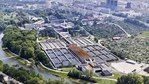 The Werdhölzli sewage treatment plant of the city of Zurich (Photo: ERZ)