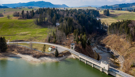 The Sihlsee dam is part of the Etzelwerk pumped storage power plant. (Photo: Alessandro Della Bella, Eawag)