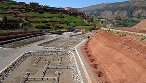 The wastewater treatment project in Asselda (Morocco) provides clean water for the inhabitants as well as for the irrigation of  fruit trees.